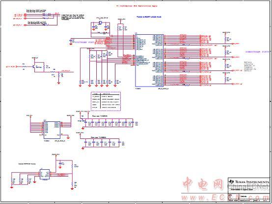 图5. usb type-c坞站参考设计tida-00630电路图(2)