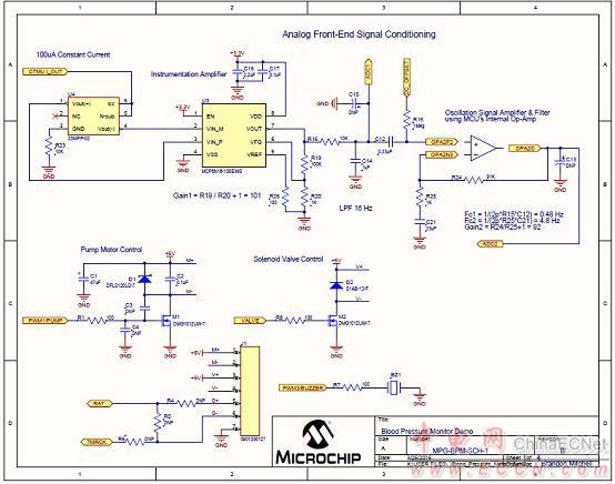 图5.血压计(bpm)板电路图(1)