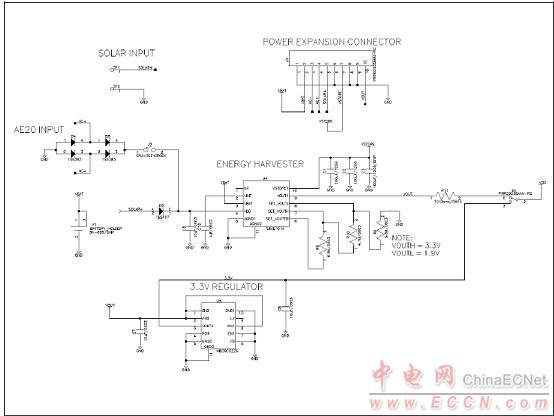 图6.能量收获主板电路图(1)