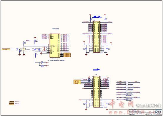 图15.评估板stm32l476g-eval电路图(11): tft lcd